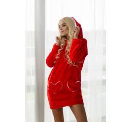 Затишна яскрава сукня Зайчик (червоний)