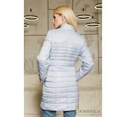 Курточка с водоотталкивающего лаке в стиле Moncler (серый)