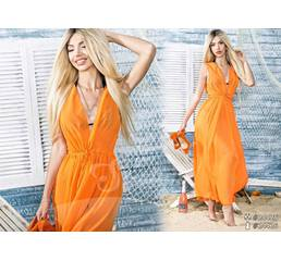 Пляжний халат 24426  (помаранчевий)
