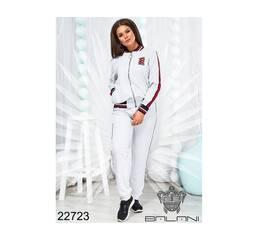 Костюм спортивный с кофтой  (белый) - 22723