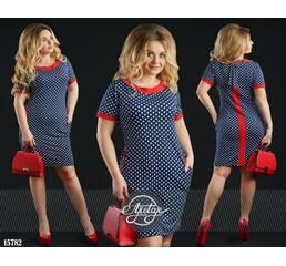 Платье - 15782 (синяя основа)