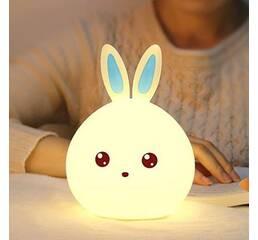 Детский 3D ночник Man rabbit без проводов Аккумулятор 1200маH Милый кролик сертификат качества. Распродажа!