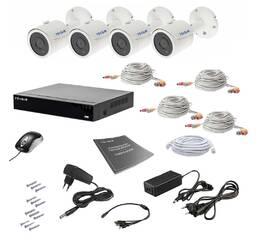Комплект видеонаблюдения Tecsar AHD 4OUT 5MEGA