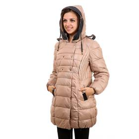 Жіноча зимова куртка відмінної якості бежева оптом ціна ca6237d59fdcf