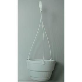 Горщик квітковий висячий з крючком 21 (біл.)