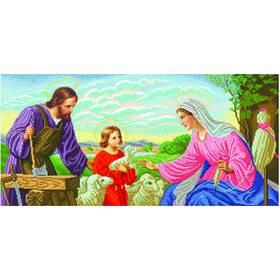 """Набор для вышивания иконы """"Святая Семья"""" (плотник)"""