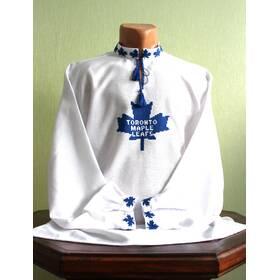 Вишита сорочка з спортивною емблемою ручної роботи