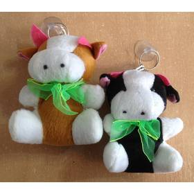 Мягкая игрушка-брелок корова