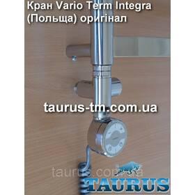 """Прохідний кутовий кран Vario Term Integra (Польща, оригінал) для комбінованих полотенцесушителей. 1/2"""" хром"""