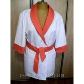 f3fa5c141ef9fa Медична куртка-халат з шалевим коміром ціна, купити. Медична куртка ...