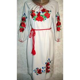 Вишиванка-плаття жіноча Маки і волошки