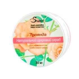 """Натуральный сахарный скраб """"Роза"""" (для нормальной, комбинированной кожи), 200 мл"""