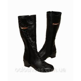 Чоботи зимові жіночі (black) - чорні ціна 19afce2b69ae4