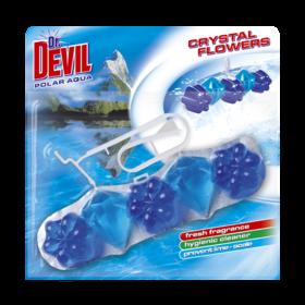 Гигиенический блок для унитаза Dr. Devil WC Crystal Flowers Polar aqua