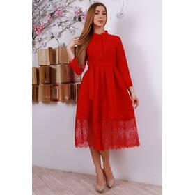 Жіноче міді плаття з гіпюром 306 ціна e4eb057871acd