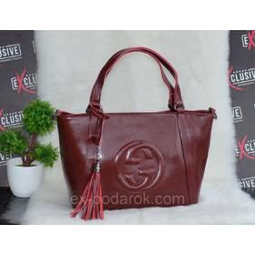 caa8f7023b20 Бордова жіноча шкіряна сумка Гуччі. ціна, купити. Бордова жіноча ...