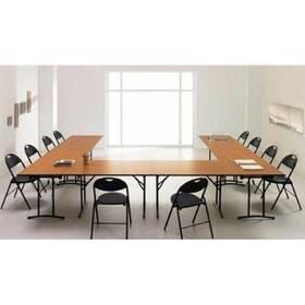 Складные столы для конференц-зала. Внешние габариты конфигурации : 4510 х 3580 х 750 мм. Количество посадочных мест 24.