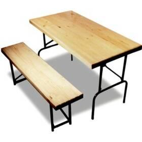 Стол складной массив сосны (1400х600х760) мм, модель опоры Эконом, толщина столешницы 18 мм.