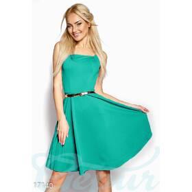 Нежное приталенное платье (ментол)