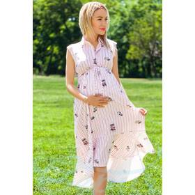 Платье-миди беременной (мультиколор)
