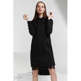 Удлиненное спортивное платье (черный)