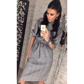 Платье 438127 серый Весна 2018 Украина