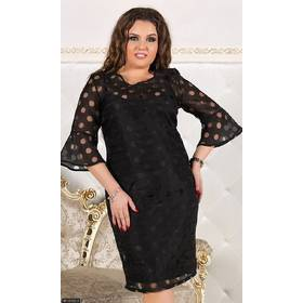 Платье 8512522-3 черный Весна 2018 Украина