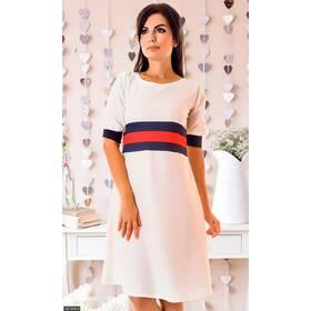 Платье 437868-2 белый Весна 2018 Украина