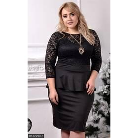 Платье 8512290-1 черный Зима 2017 Украина