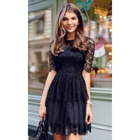 Платье 437943 черный Весна 2018 Украина