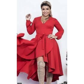 Платье 8512003-1 красный Осень-Зима 2017 Украина