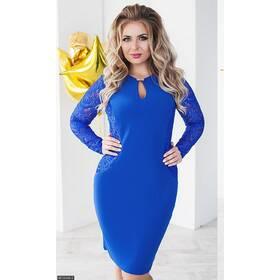 Платье 8512456-3 электрик Весна 2018 Украина