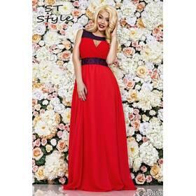 Платье 14858 (красный/тёмно - синий)