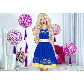 Платье 22469 (электрик/желтый)