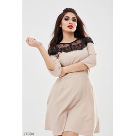 Женское платье 17004 бежевый