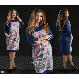 Платье - 13894 (синий)