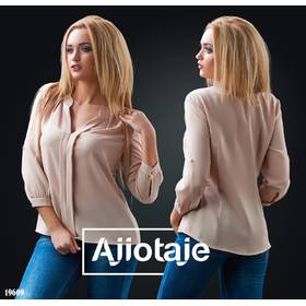 Блуза - 19609 (бежевый)