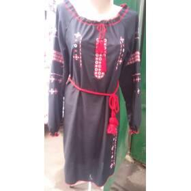 Сукня вишиванка хрестиком чорне ціна 73e15515f5cac