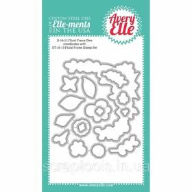 Ножі для вирубування на машинці Avery Elle Floral Frame (811568023857)