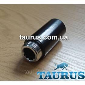 """Чёрные удлиннители от 10 до 90 мм. Резьбовое соединение внутр. 1/2"""" - наружн. 1/2"""";"""