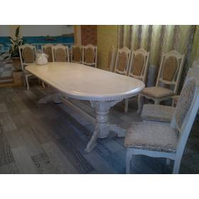 Шикарний стіл з масиву дуба слонова кістка купити недорого