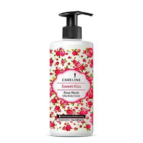Крем для тела увлажняющий Careline с ароматом мускусной розы Body Cream Sweet Kiss 400 мл.