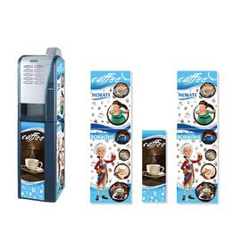 Брендированная наклейка на кофейный автомат Saeco Group/Rubino Espresso 200, синий