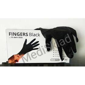Рукавички нітрилові одноразові неприпудрені, чорні (50 пар/уп.)