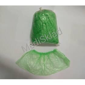 Бахіли поліетиленові одноразові салатові (50 пар/уп)