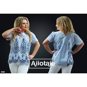 Блуза - 20361 (блакитна)