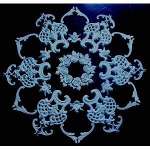 Gypsum set rosettes