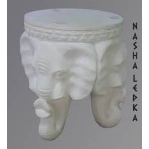 Decorative gypsum table