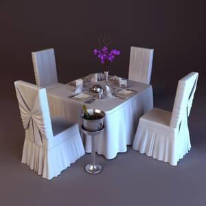 Cкатерти, чохли на стільці, ресторанний текстиль