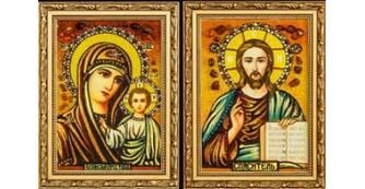 Візьміть на вінчання православні ікони з бурштину
